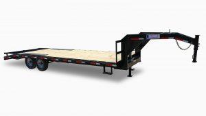 Gooseneck flatbed trailer