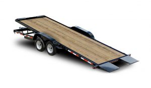 Tilt Car Trailers Wood Deck