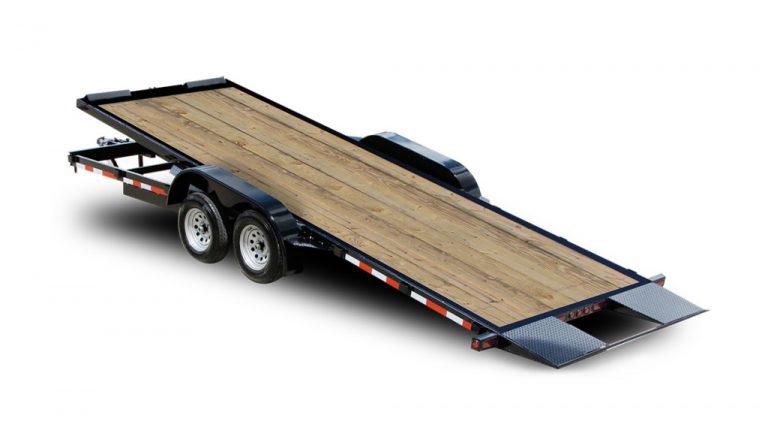 Tilt Car Trailers Wood Deck